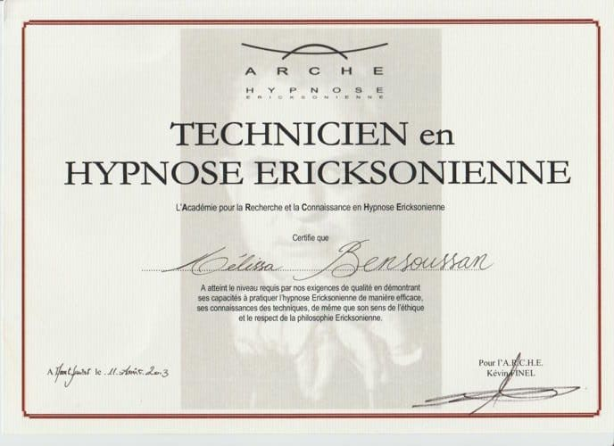technicienne hypnose ericksonienne